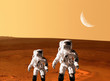 Leinwandbild Motiv Astronaut Spaceman Mars Space