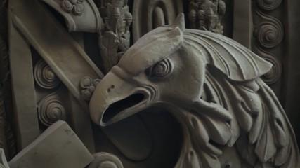 predatory eagle bas Relief