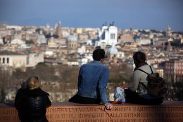 ammirare panorama di roma