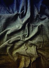 Old  indigo and brown toned cloth (close up)