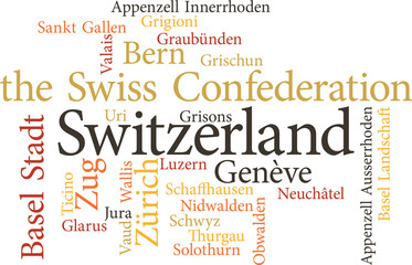 Illustration of the Swiss Cantons