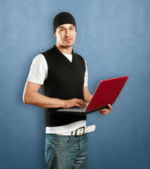 Young Man With Laptop