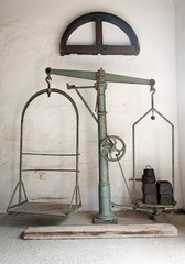 Large old antique weighing scale.