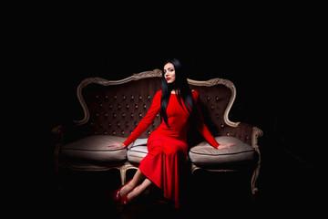 Beautiful woman in stylish interior