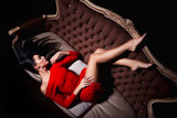 Elegant woman posing in a sexy way - 79092414