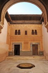 Palace of Alhambra, Patio del Cuarto Dorado, Granada, Spain