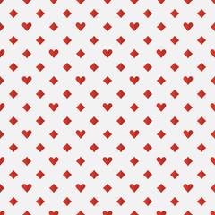 Red poker seamless pattern