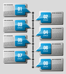 Business flat infographic template with text fields.