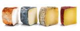 quatro tipi di formaggio a fette