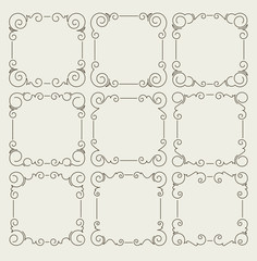Set of 9 decorative text frames.