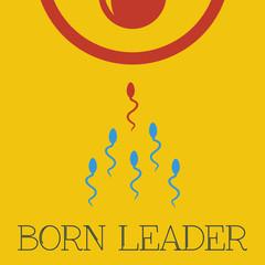 Vector born leader flat