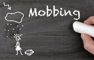 Mobbing Tafel Frau