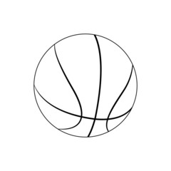 Pallone da Basket bianco e nero