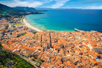 aerial view of Cefalu