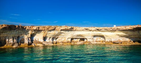 Sea caves at Cape Greco