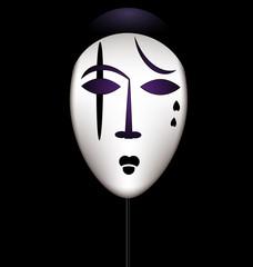 mask of a sad clown