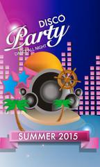 Vector Disco Party Flyer Design