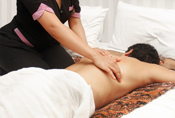 man in an massage therapy