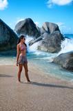 Sexy Woman Posing at the Beach in Virgin Gorda