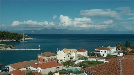 Clouds over the sea Paxos island, Greece - time-lapse video
