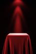 Pedestal with silk cloth and spot light - 79095023