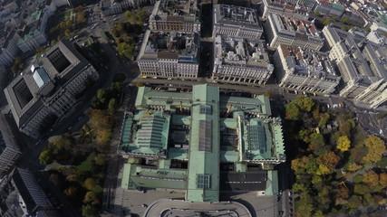Bird's eye view on Austrian Parliament in Vienna.