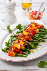 Green beans and vegetables