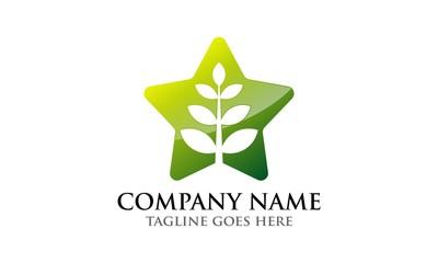 Plant Star Leaf Logo