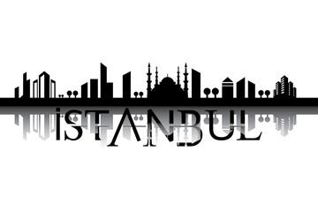 Vektör Şehir Manzara İstanbul
