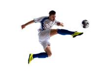 "Постер, картина, фотообои ""soccer player in action"""
