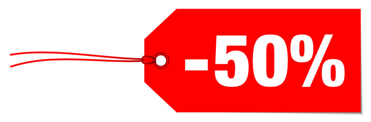 "Hangtag ""Sale"" -50%"