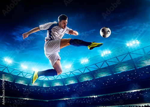 Soccer player in action - 79096850