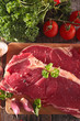 raw sirloin beef