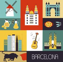 Symbols of Barcelona.