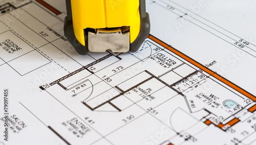 plan construction mesures - 79097455