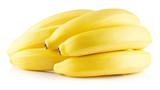 tasty bananas isolated on the white background