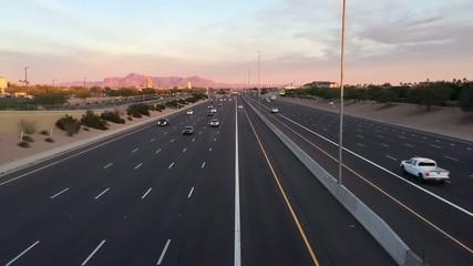 Az highway sunset timelapse  I17 Mesa,Gilbert, Az,Phoenix