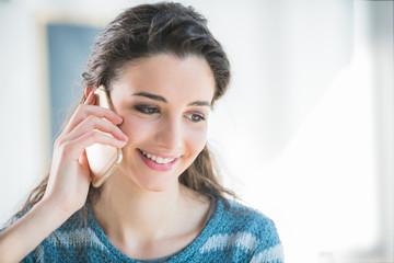 Beautiful girl having a phone call