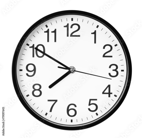Leinwandbild Motiv wall clock isolated on the white background