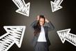 Gestresste frustrierte Geschäftsfrau | Arbeitsbelastung