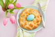 Leinwanddruck Bild - Easter breakfast table