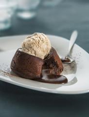 Chocolate fondant lava cake