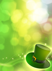 Saint Patrick's Day card with green hat