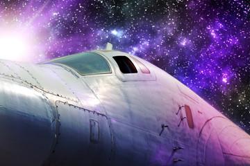 Spaceship concept for futuristic interstellar deep space travel
