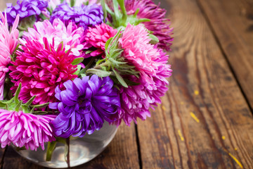 bouquet from asters