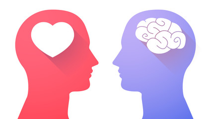 Head set with a brain and a heart