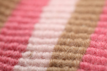 Close up of multicolor wool