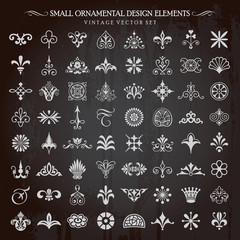 Small Ornamental Vintage Design Elements Page Decoration Vector