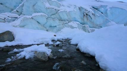 Born a river from the glacier