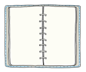blue notebook vintage cute hand drawn